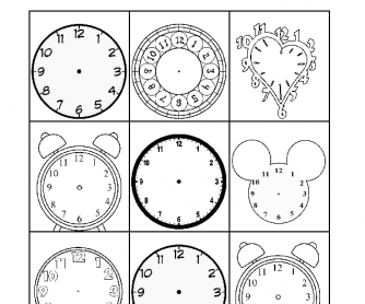 English teaching worksheets: Time bingo
