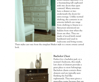 Types of Storage Furniture