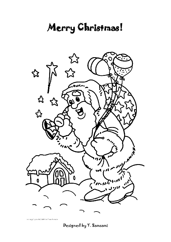 merry christmas images coloring pages - photo#14
