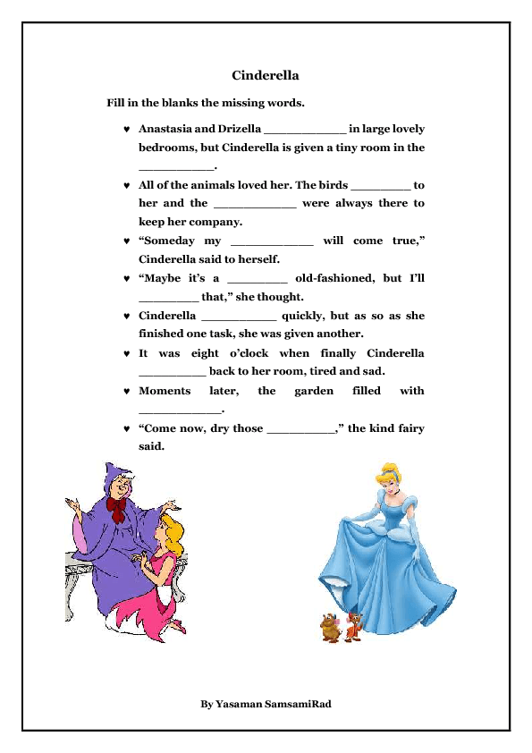 Cinderella Worksheets - Sharebrowse