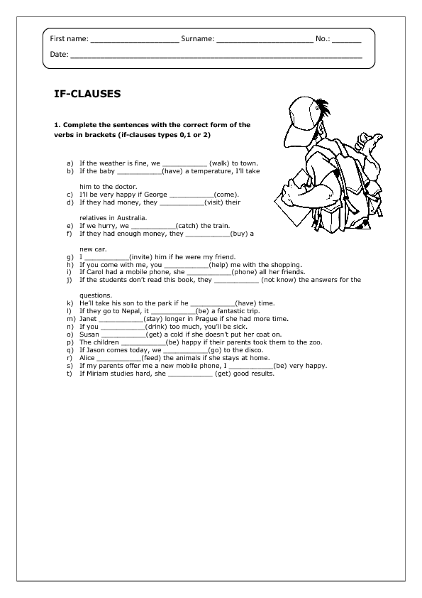 Clauses Worksheet – Clauses Worksheets