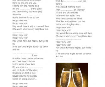 Song Worksheet: Happy New Year by ABBA