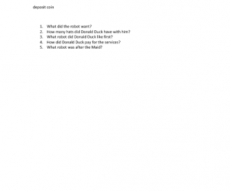 Movie Worksheet: Donald Duck Cartoon