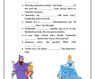 Movie Worksheet: Disney Cinderella Storybook
