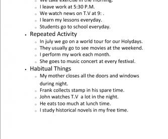 Three Present Simple Activities