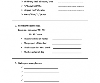63 FREE Possessive Case Worksheets