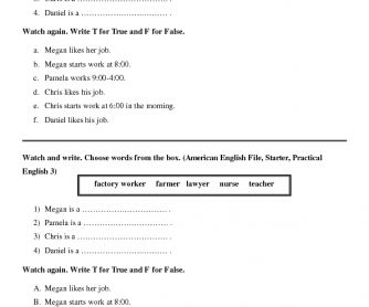 Movie Worksheet: American English File