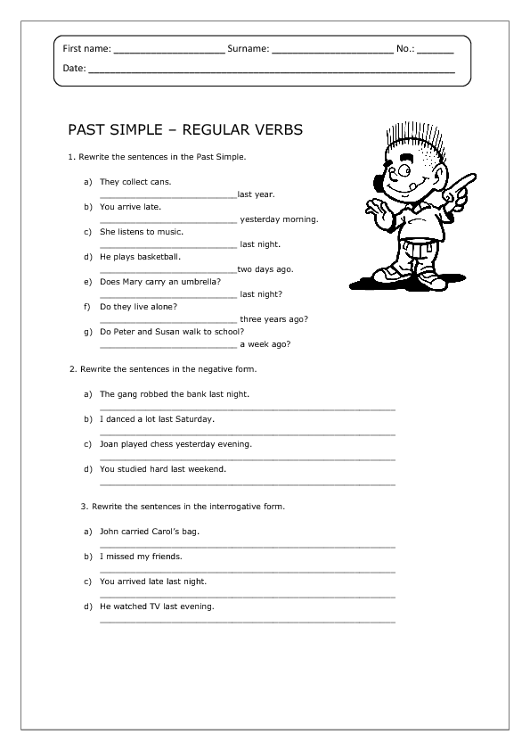 past simple regular verbs worksheet. Black Bedroom Furniture Sets. Home Design Ideas