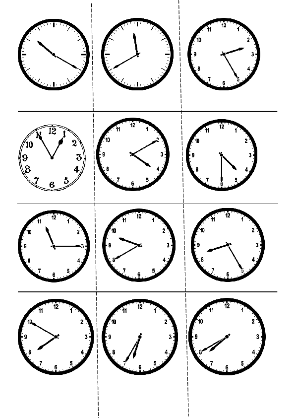 124 free telling time worksheets and activities. Black Bedroom Furniture Sets. Home Design Ideas