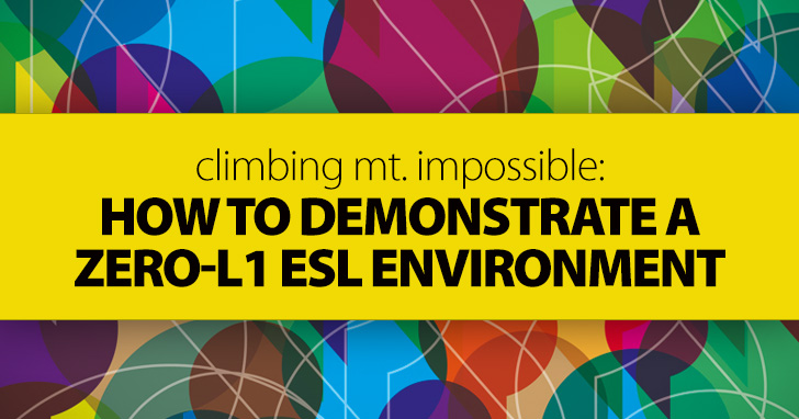 Climbing Mt. Impossible: How to Demonstrate a Zero-L1 ESL Environment