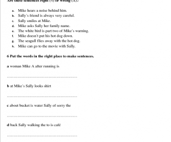 Story Book Worksheet : Good Day, Bad Day (Part 3)