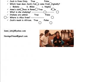 Movie Worksheet: Nationalities (English Today)