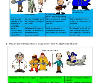 Information Gap Task 1/4: Jobs