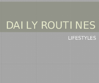 Daily Routine, Present Simple PPT