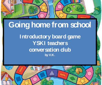 Introduction Board Game - Going Back to School