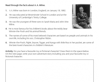 Fact Sheet - A. A. Milne