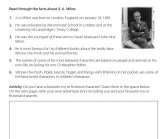 Fact Sheet - A. A. Milne
