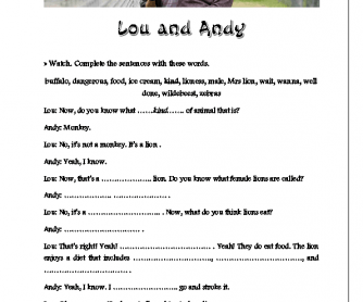 Movie Worksheet: Little Britain USA, Lou and Andy