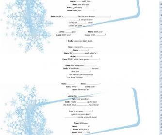 Song Worksheet Love Is an Open Door - Frozen  sc 1 st  Busy Teacher & Worksheet: Love Is an Open Door - Frozen