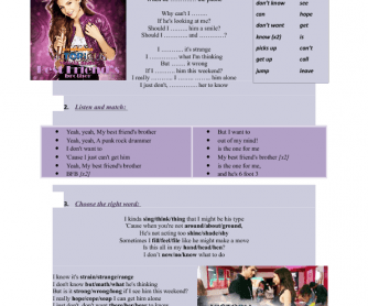 Song Worksheet: Best Friend's Brother by Victoria Justice