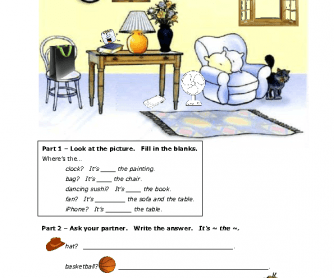 Prepositions of Place - Information Gap Fill [PDF]