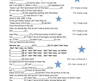 Song Worksheet: All about That Bass by Meghan Trainor