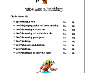 Movie Worksheet: Goofy (Present Continuous)