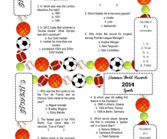 Guinness World Records 2014 Sports Quiz