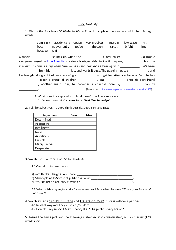 55 FREE Massmedia Worksheets – Criminal Thinking Worksheets