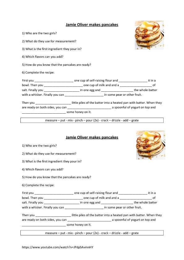 81 FREE Cooking Worksheets – Recipe Conversion Worksheet