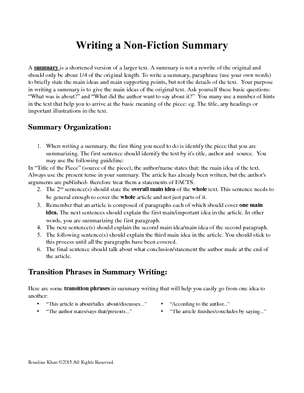 nonfiction reading worksheets