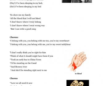 Song Worksheet: Ho Hey by The Lumineers