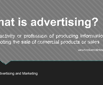Advertising and Marketing PowerPoint