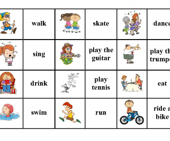Present Continuous or Simple- Verbs and Pictures