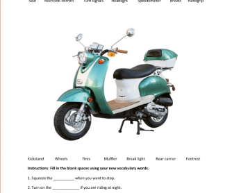 Motorbike Vocabulary Builder