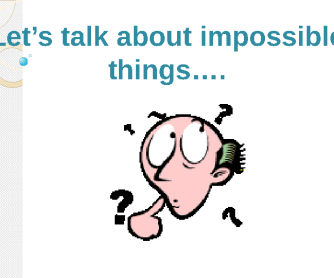 Let's Talk about the Impossible (Second Conditional)