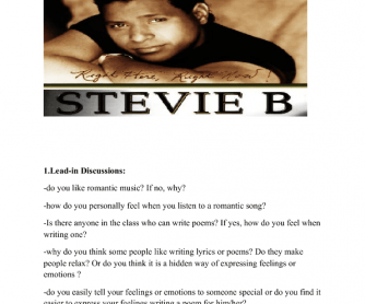 Song Worksheet: Because I Love You by Stevie B
