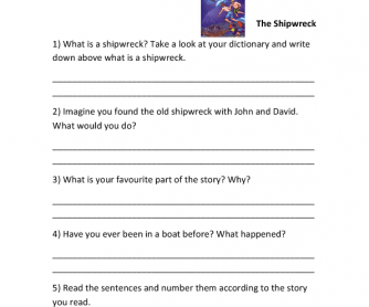 The Shipwreck- Reading Comprehension