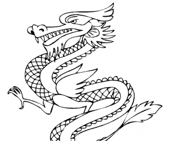 chinese new year colouring page 5 - Kids Free Coloring Pages