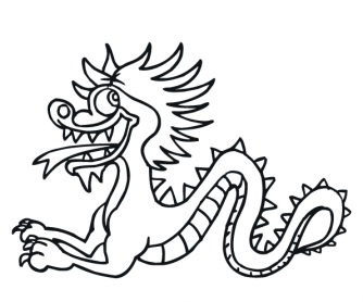 Chinese New Year - Colouring Page 7