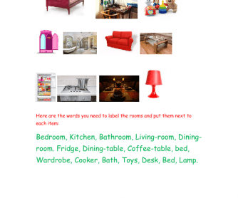 Draw Your House and Label Each Item