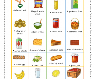 Food Quantities- Corrected
