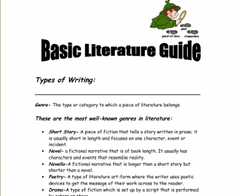 Basic Literature Guide- an Introduction to Literary Terms