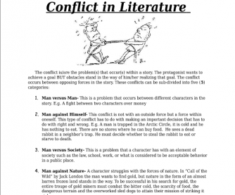 Literature in Conflict- Lecture Sheet