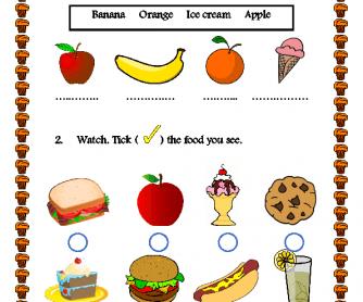 Movie Worksheet: Food