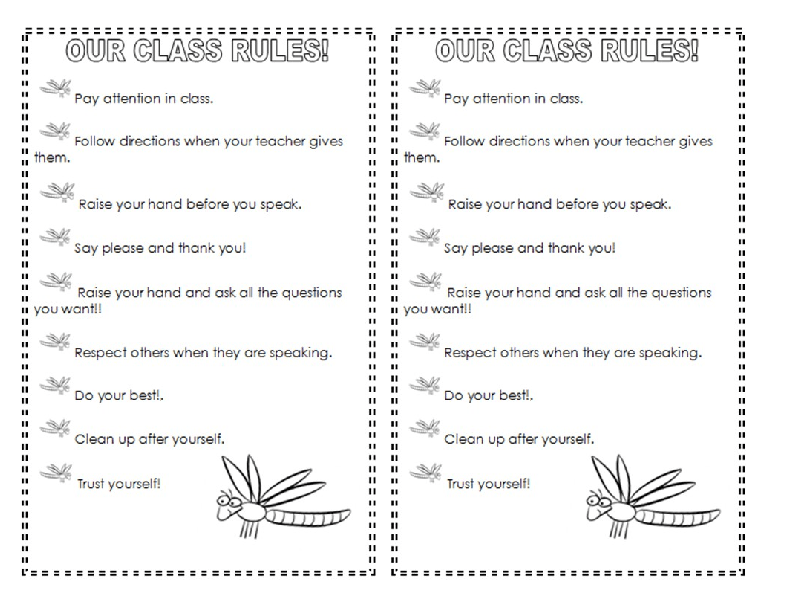 Printables Classroom Rules Worksheet 106 free classroom management and discipline worksheets class rules perfect for first days