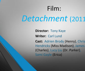 Movie Worksheet: Detachment