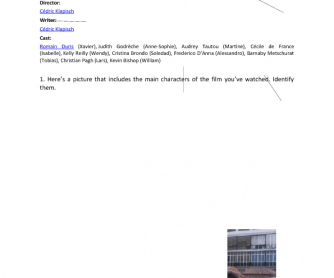 Movie Worksheet: The Spanish Apartment (L'auberge Espagnole)