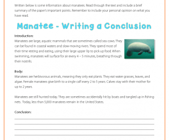 Writing a Conclusion - Manatees