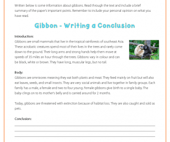 Writing a Conclusion - Gibbons